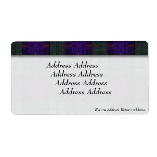アームストロングの一族の格子縞のスコットランド人のタータンチェック ラベル