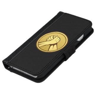 アームレスリングの金ゴールド iPhone 6/6S ウォレットケース