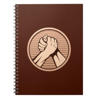 アームレスリングの青銅 ノートブック