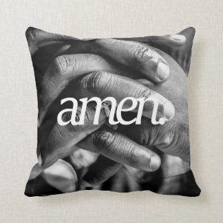 アーメン。 宗教デザイン2の側面のプリント クッション