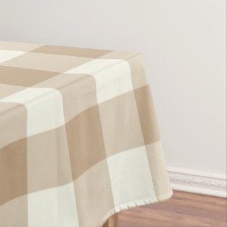 アーモンドのブラウンのギンガム/バッファローの点検のテーブルクロス テーブルクロス