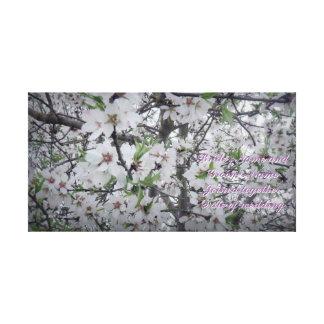 アーモンドの花の結婚式の記憶キャンバスのプリント キャンバスプリント