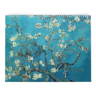 アーモンドの花-ゴッホが付いている枝 カレンダー