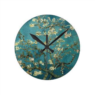 アーモンドは柱時計活気付きます ラウンド壁時計