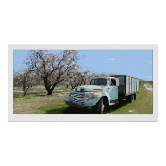 アーモンド果樹園-ポスターのトラック ポスター