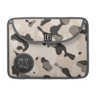 アーモンド色の迷彩柄; レトロの黒板 MacBook PROスリーブ