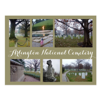 アーリントンの墓地のコラージュ ポストカード