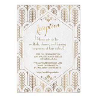 アールデコのすばらしいGatsbyのホワイトゴールドの披露宴 カード