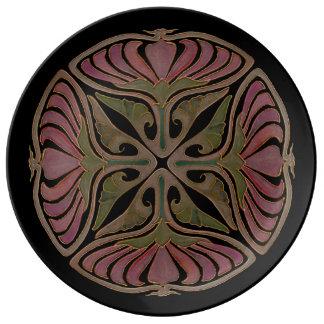 アールデコのインスピレーションIの磁器皿 磁器プレート