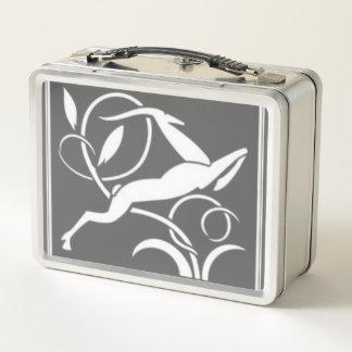 アールデコのガゼルのステンレス鋼のお弁当箱 メタルランチボックス