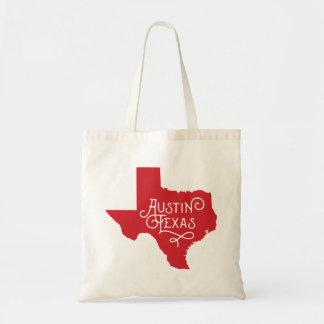 アールデコのスタイルのオースティンテキサス州のトートバック-赤 トートバッグ