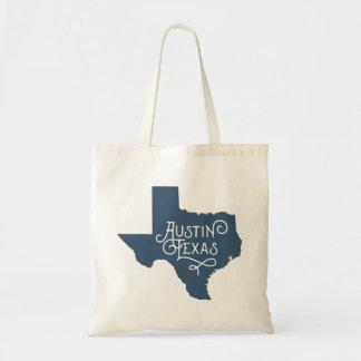 アールデコのスタイルのオースティンテキサス州のトートバック-青 トートバッグ