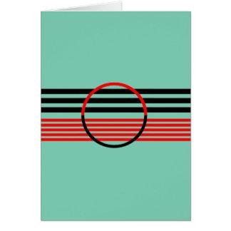 アールデコのスタイルの挨拶状 カード