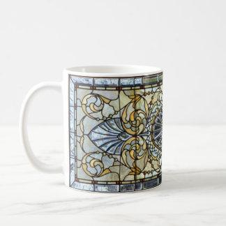 アールデコのステンドグラス窓のマグ コーヒーマグカップ