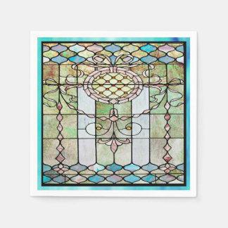 アールデコのステンドグラス4 スタンダードカクテルナプキン