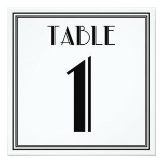 アールデコのテーブル第1 13.3 スクエアインビテーションカード