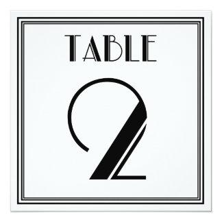 アールデコのテーブル第2 13.3 スクエアインビテーションカード