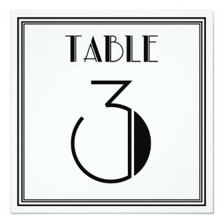 アールデコのテーブル第3 13.3 スクエアインビテーションカード