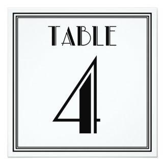 アールデコのテーブル第4 13.3 スクエアインビテーションカード