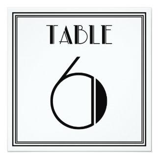 アールデコのテーブル第6 13.3 スクエアインビテーションカード