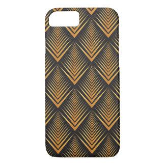アールデコのドラゴンによってはかりで測られる黒及び金ゴールドの日焼け iPhone 8/7ケース