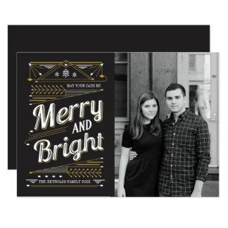 アールデコの休日の写真カード カード