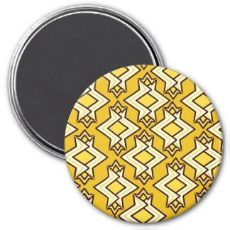 アールデコの壁紙パターン、マスタードの金ゴールド マグネット