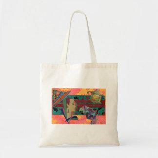 アールデコの女性色のしぶき トートバッグ