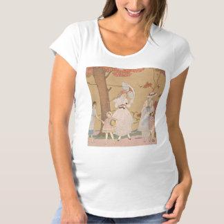 アールデコの女性-ガードの女の子と遊びます マタニティTシャツ