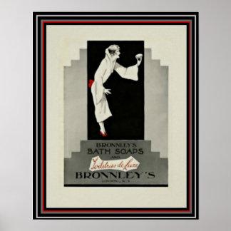 アールデコの広告のBronnleyの石鹸16 x 20ポスター ポスター