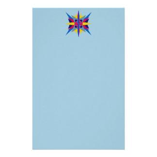 アールデコの星ヘッダーが付いているレターヘッド 便箋