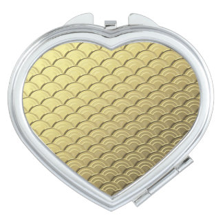 アールデコの波パターン-金属金ゴールド