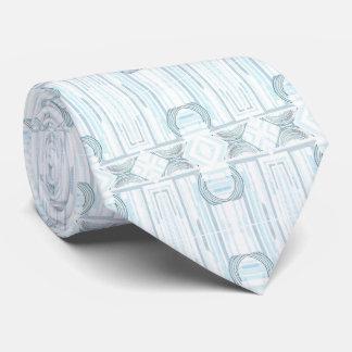 アールデコの淡いブルーのストライプのなタイ ネクタイ
