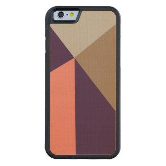 アールデコの紫色及びモモ CarvedメープルiPhone 6バンパーケース