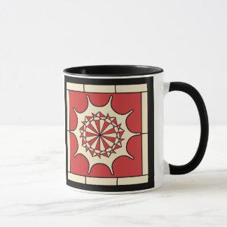 アールデコの赤いしぶき マグカップ