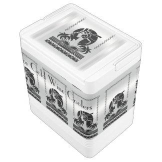 アールデコの銀および黒いイグルーのワインクーラー クールボックス