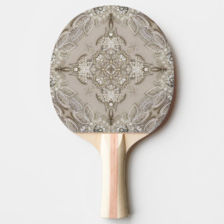 アールデコの魅力的で素晴らしいGatsbyのラインストーンのレース 卓球ラケット
