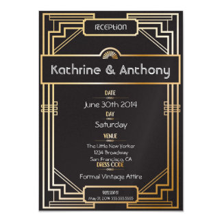 Art Deco Black and Gold Gatsby Reception