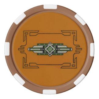 アールデコの~のトランプのポーカーのチップセット ポーカーチップ