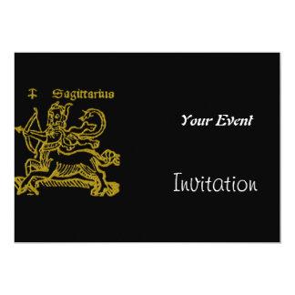 アールデコのSagitariusのパーティの招待状 カード