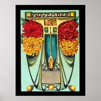 アールデコのSagitariusのヴィンテージポスター ポスター