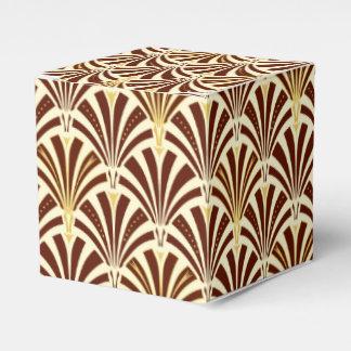 アールデコファンパターン-クリームのチョコレート フェイバーボックス