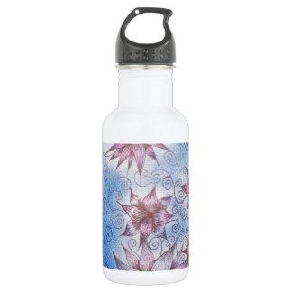 アールヌーボーのかわいらしい花 ウォーターボトル