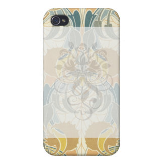 アールヌーボーのはっきりしたな植物相のデザイン iPhone 4/4S カバー