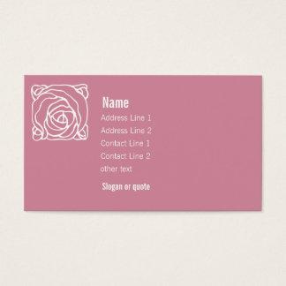 アールヌーボーのばら色の名刺とのピンク 名刺