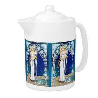 アールヌーボーのアクエリアスの茶ポット