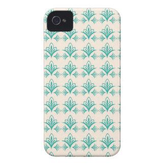 アールヌーボーのエレガントな抽象的な花柄 Case-Mate iPhone 4 ケース