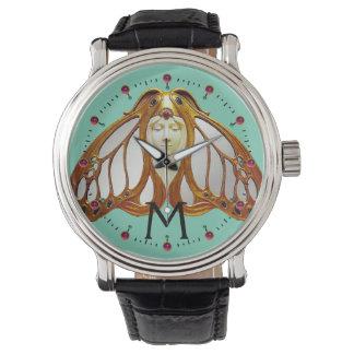 アールヌーボーのガの女性のモノグラム 腕時計