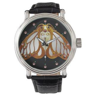 アールヌーボーのガの女性 腕時計