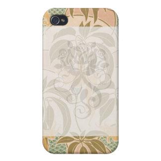 アールヌーボーのシュロの葉のpern芸術 iPhone 4/4S カバー